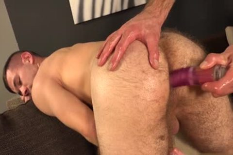 hairy homo Gaping With semen flow