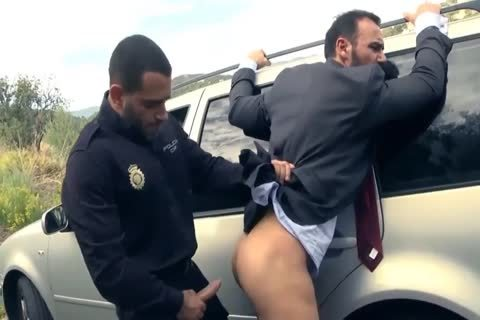 Policeman Barebacks Businessman