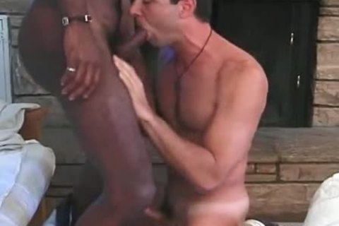 White homo taking three darksome knobs and ribald sex spooge - ebon sex clip scene scene - Tube8.com