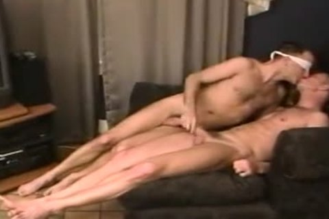 nude take up with the tongue rim engulf plough blindfolded messy males-two