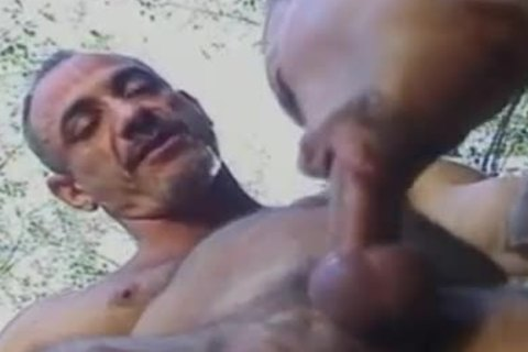 Body Builders gracious Outdoor butthole drilling