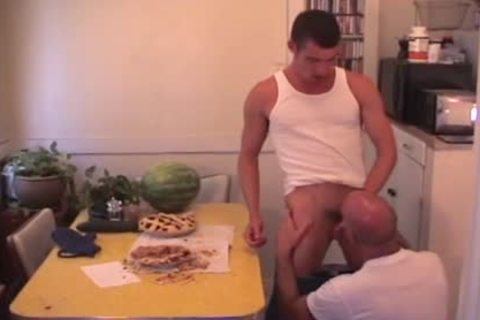 Footballin' And Food gangbang Double Feature - Scene three