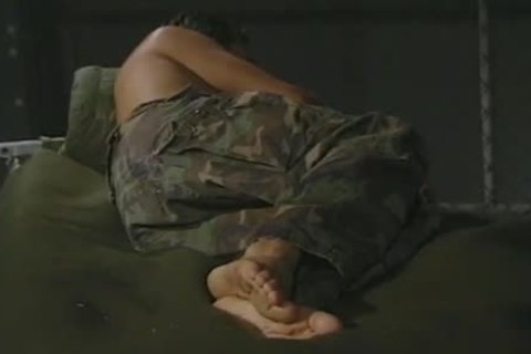 Hung Army lad Massaging His wicked Feet