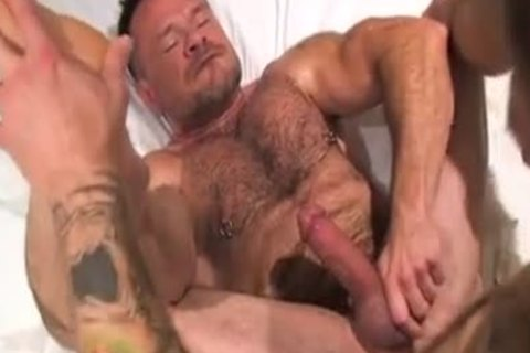 Two Muscle Daddies Flip-hammer naked