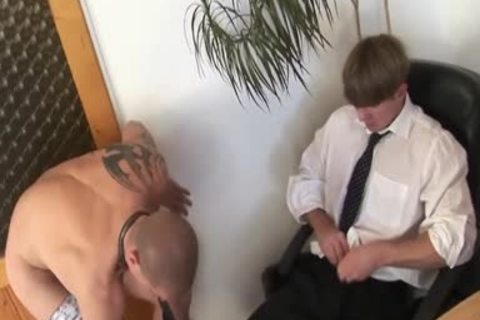 homosexual Employee pounded bare