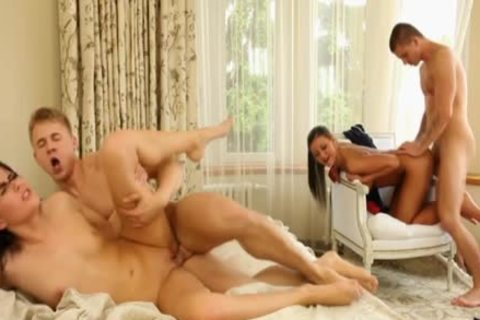 Luscious Bi trio plowing