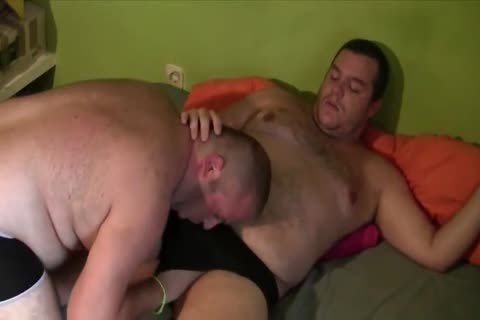 yummy chubby men drilling