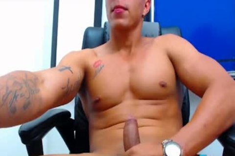 Felipe Borja On Flirt4Free boyz - Latino dude's Monster dick discharges A Load