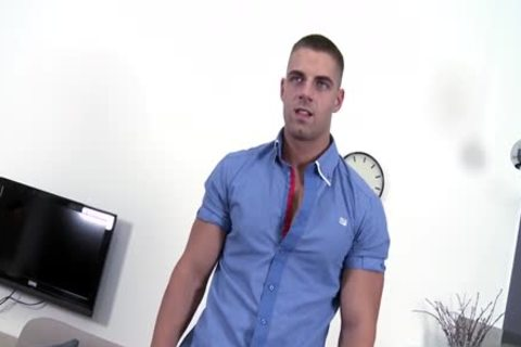 hirsute Daddy Casting With penis juice flow