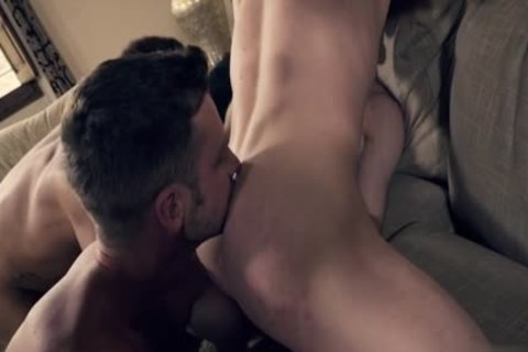 lusty gay DP With Facial