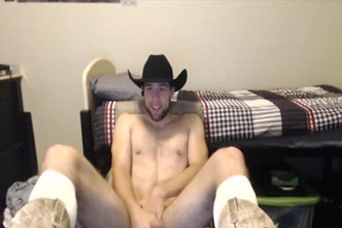 Toned Hung cute guy Shows Why Cowboys Do It better