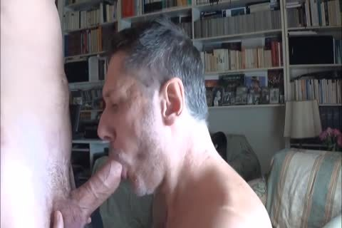dad Worships Feet And Sucks knob