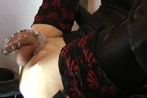 Sissy gets boned With Chastity Belt