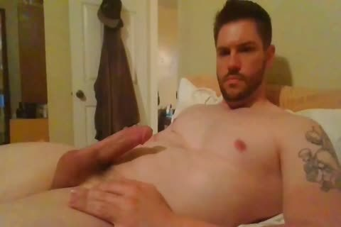 Hunk Jerking His chubby knob