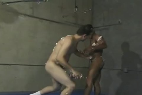 Playful Wrestlers Have joy With Whipped sex cream