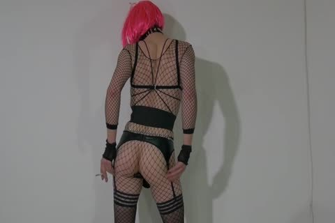 lascivious Crossdresser Partying At Home In concupiscent Outfit