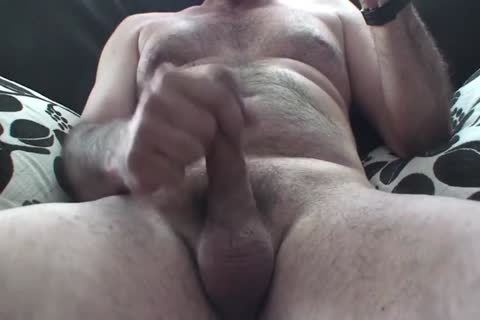 daddy S Playing With His humongous bushy Uncut Foreskin 10-Pounder
