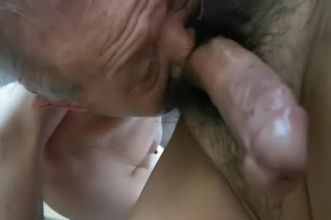 lusty Chinese grandpa engulfing dick & Getting plowed