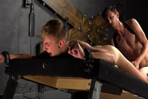 slutty twinks sperm After painfully unprotected nailing In bondage