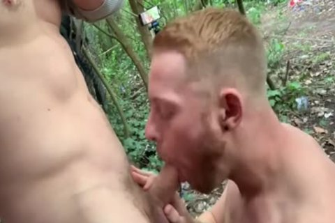 Two fine guys Have Sex In Woods - Third Lad Joins In
