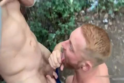 Two Brit boyz Have Sex In Woods Third lad Joins In
