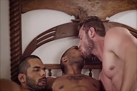 homosexual Interracial threesome