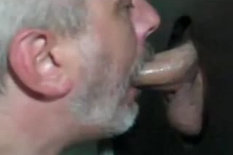 Grey Bearded daddy Shows How To engulf At GH: blowjob-HJ-drink